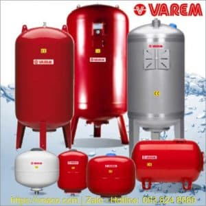 Bình tích áp Varem Ý áp suất tối đa 10 Bar và 16 Bar