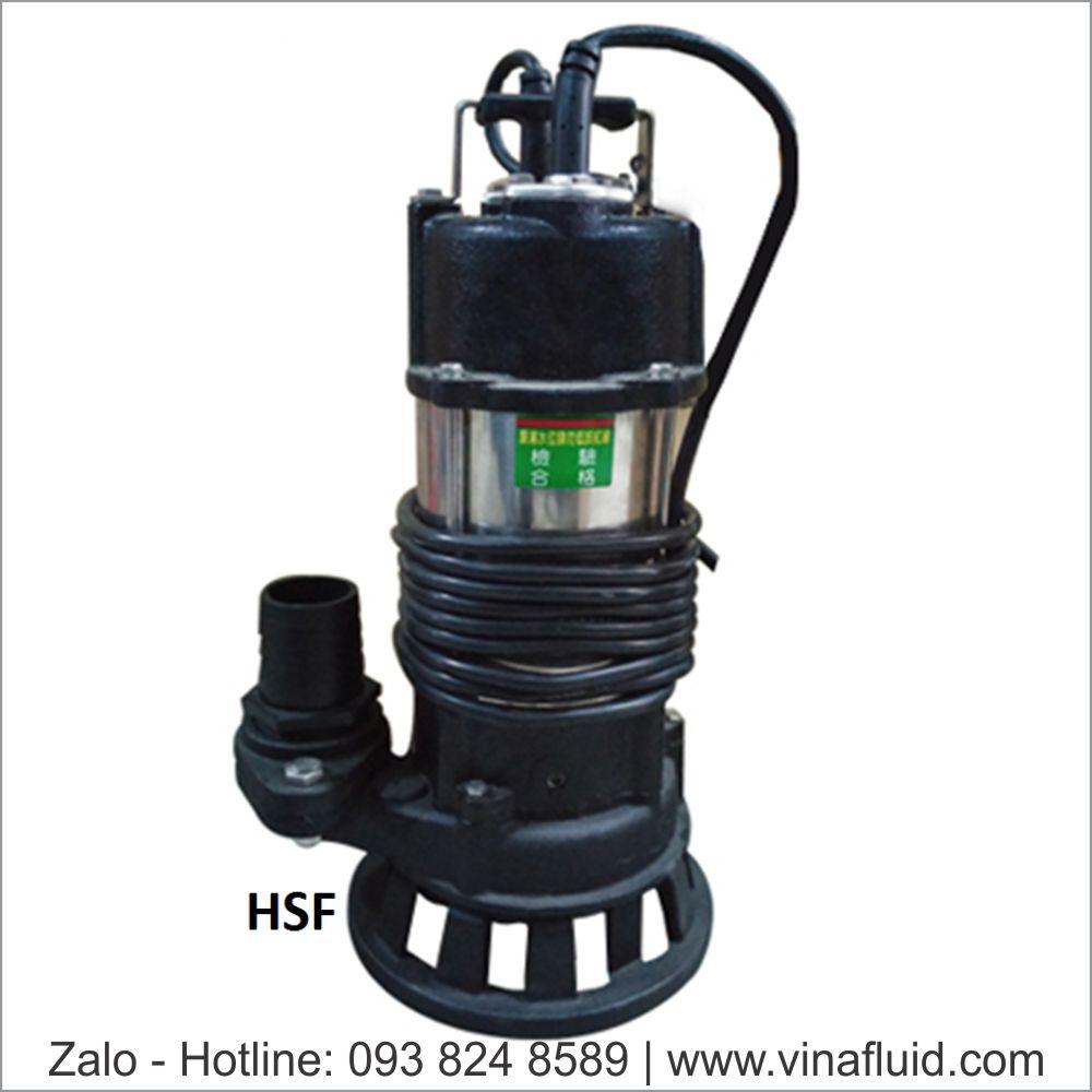 Bơm nước thải NTP HSF ứng dụng hút bùn công suất đến 10HP