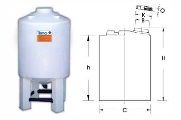 Bồn hóa chất Tema Thái Lan CEN-B Series