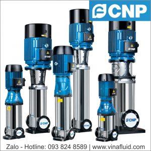 Máy bơm trục đứng CNP dòng CDM và CDMF bơm nước nóng