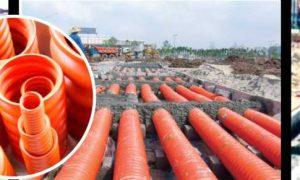 Hướng dẫn thi công cáp ngầm với ống nhựa xoắn HDPE