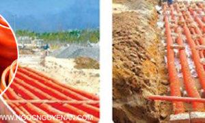 Thi công ống HDPE luồn cáp ngầm