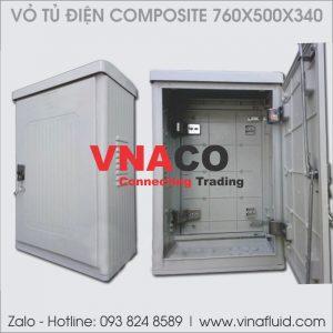 Vỏ tủ điện Composite kích thước 760x500x340